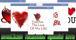 Chat Emoticon Facebook Spesial Love Symbol