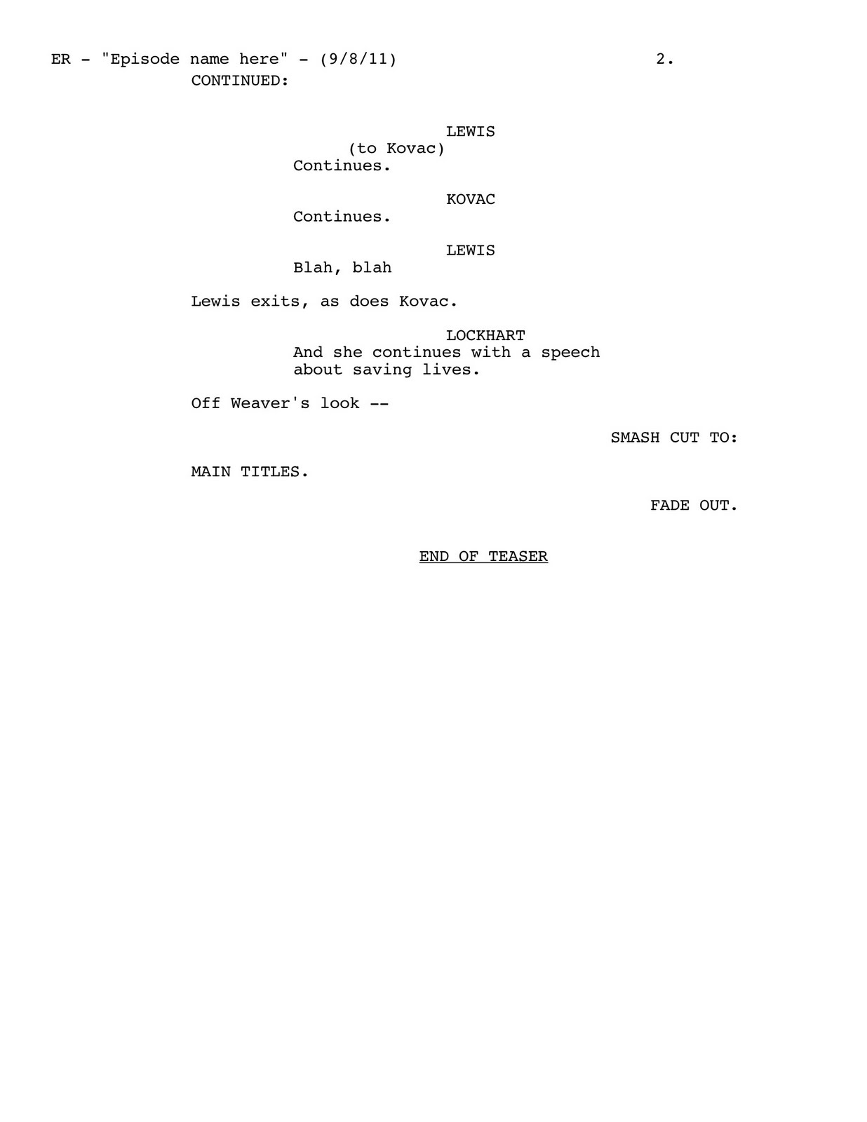 Template For Script Writing. movie script template doliquid ...