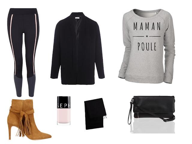 Idée tenue avec sweat gris maman poule - ArteCita ECO Fashion