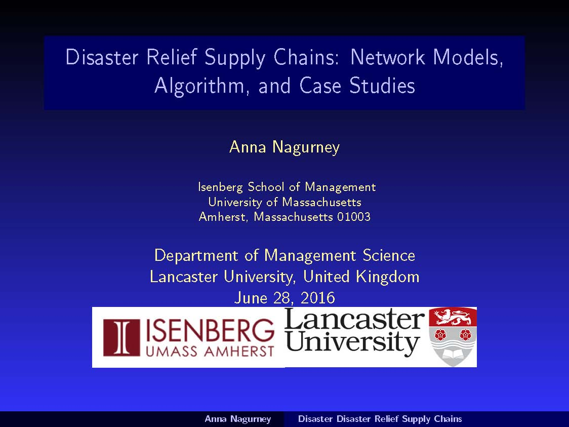 renew great time speaking on disaster relief in the management a nice announcement was prepared for my presentation which i am very grateful for and even though the date for my talk was 28 2016 and in the us it