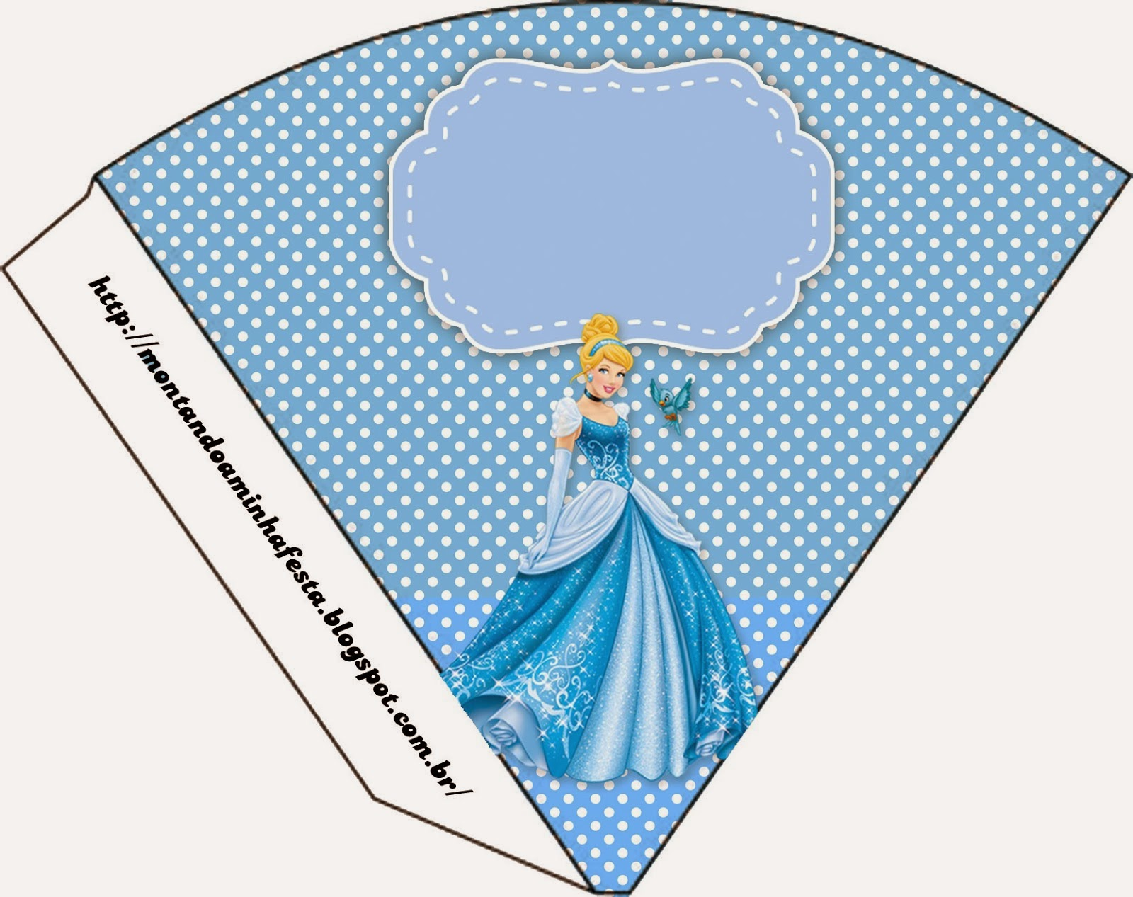 Cinderella Free Printable Party Cones.