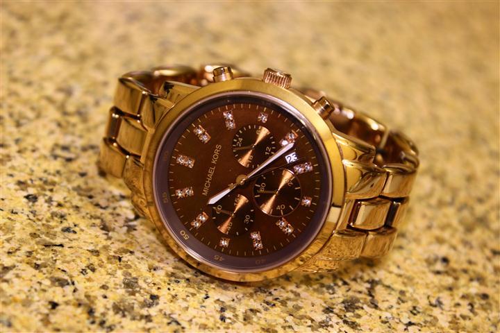 b5fb6cd0f Relógio de Luxo Michael Kors MK5415 Ouro Rosé Chronograph Analógico &  Cristais Swarovski!!!