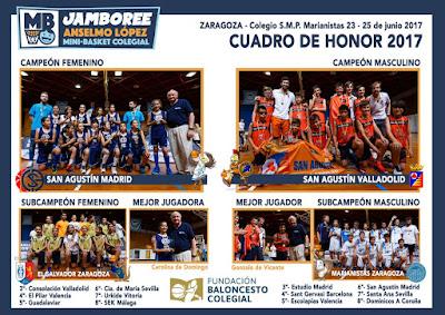 Agustinas Valladolid - 2017 - Deporte - Jamboree - Cuadro de Honor