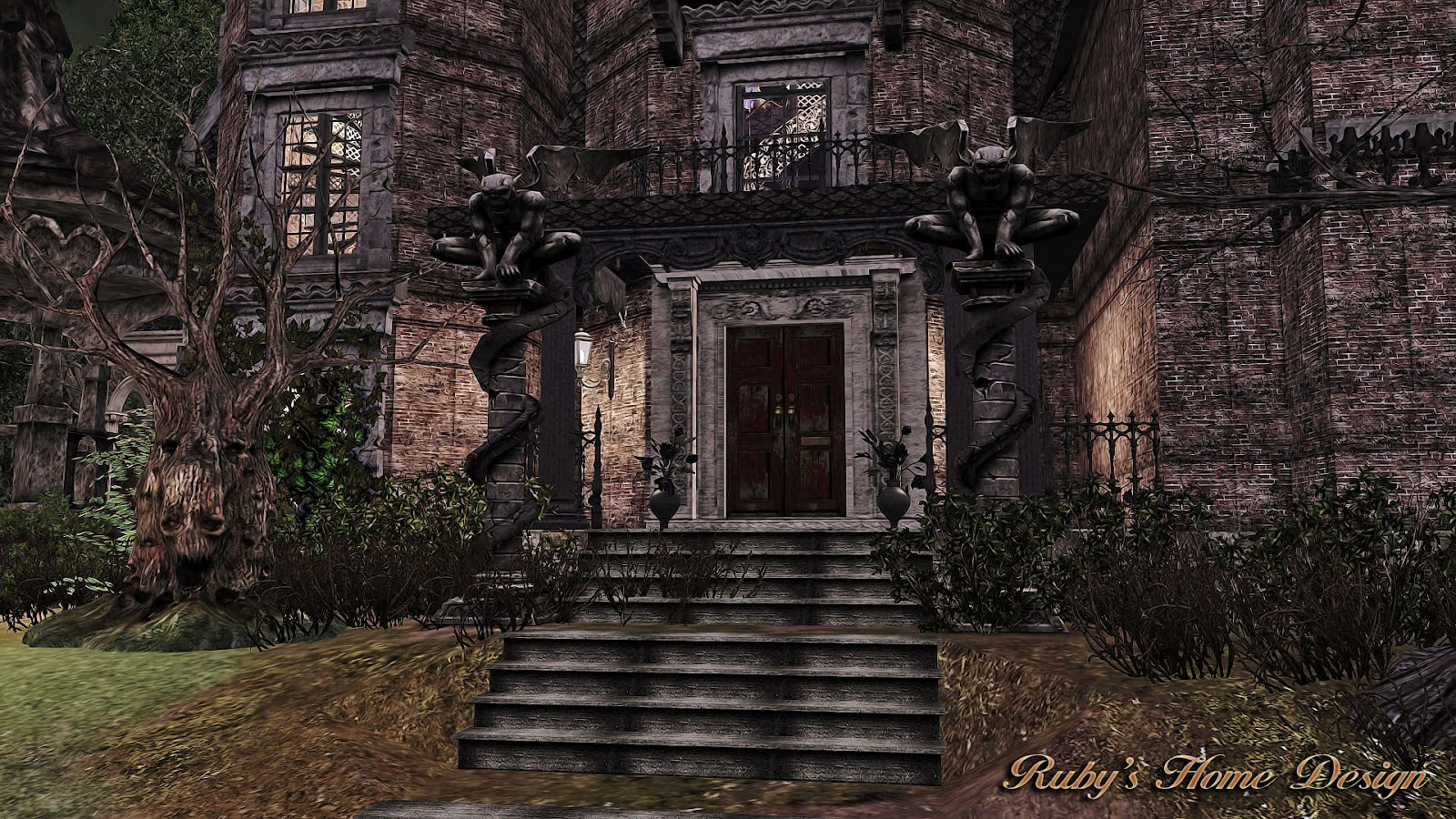 Sims3 The Gothic Mansion 哥德古宅 Ruby S Home Design