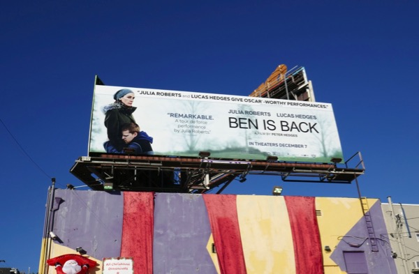 Ben Is Back film billboard