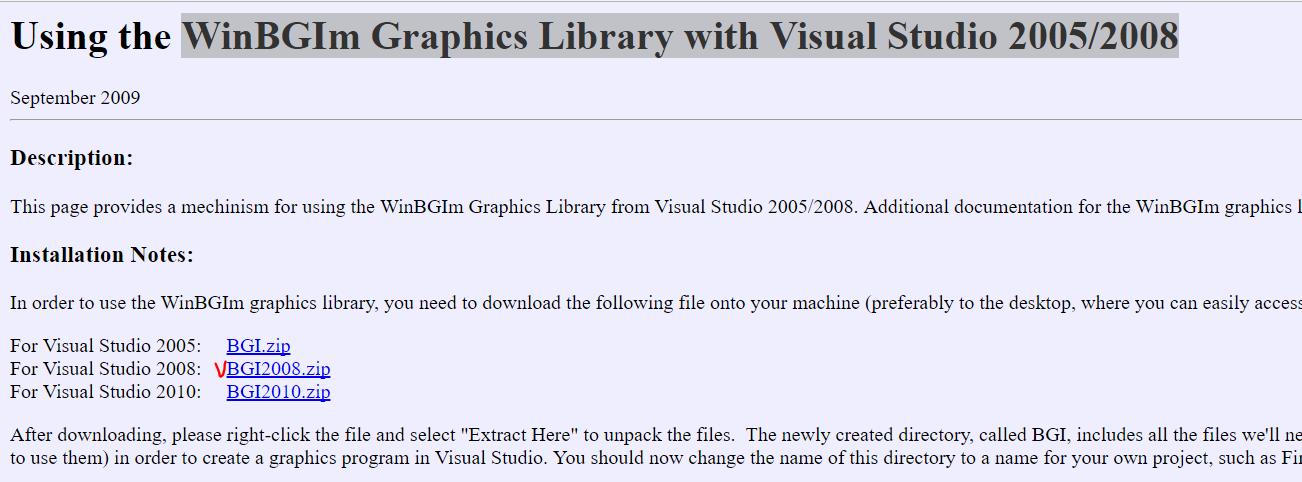 graphics.h download for visual studio