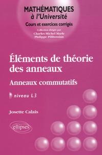 Eléments de la théorie des anneaux- Anneaux commutatifs, Niveau L3