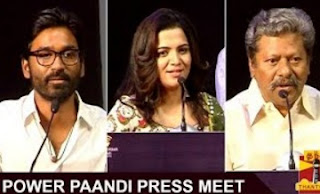 Watch Actor Dhanush, Rajkiran, Dhivyadharshini speech at Power Paandi Press Meet