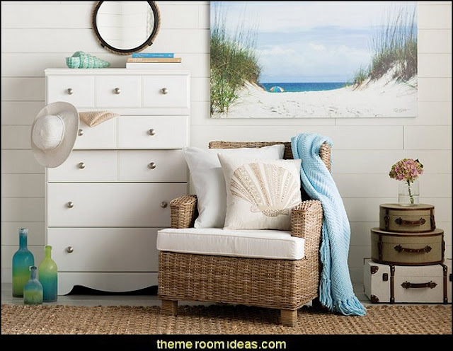 Ocean Path Photo Graphic Print on Canvas  seaside cottage decorating ideas - coastal living living room ideas - beach cottage coastal living style decorating ideas - beach house decor - seashell decor - nautical bedroom furniture