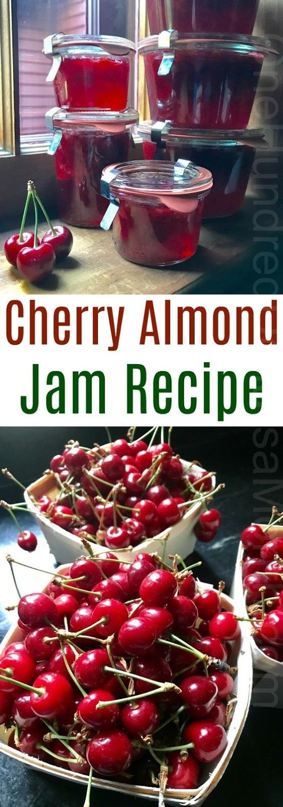 Cherry Almond Jam Recipe