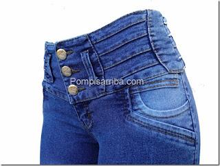 Pantalon de mezclilla dama, corte colombiano,