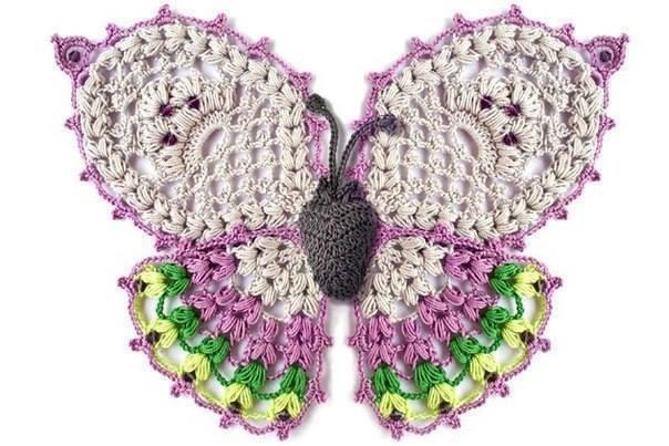 Patrón #1585: Mariposa a Crochet