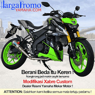 Modifikasi Yamaha Xabre Custom Monster Green