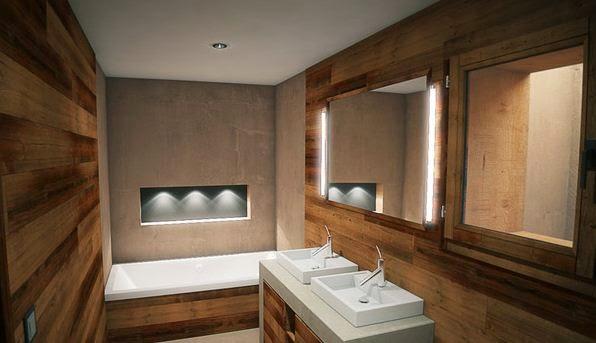 Hogares frescos 17 exquisitas ideas de dise o para ba os - Banos con madera ...