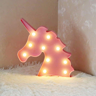 luce unicorno rosa