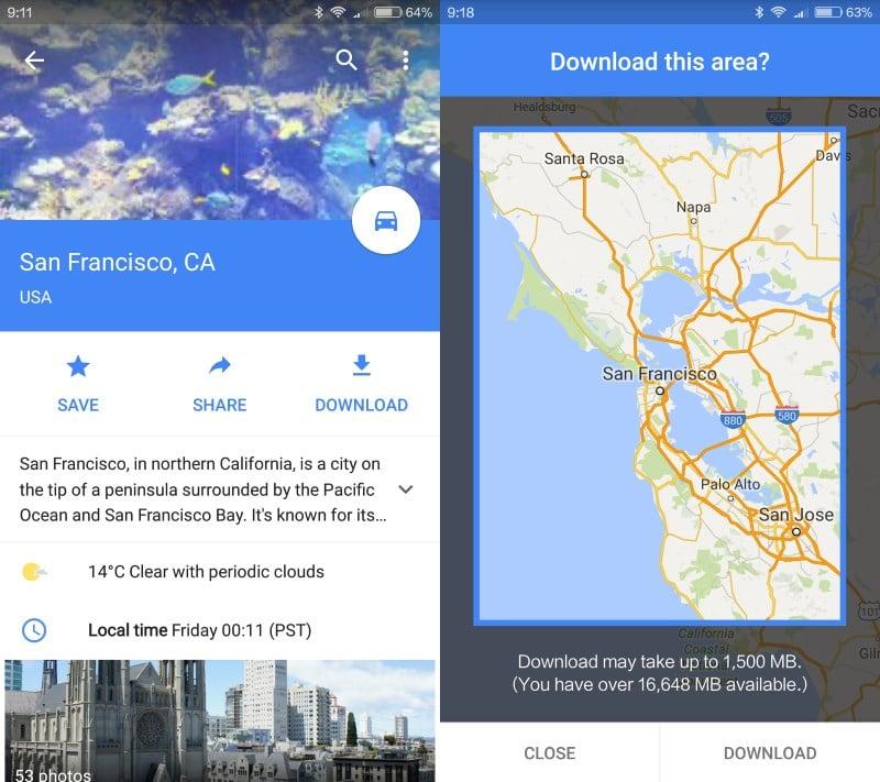 كيفية تنزيل بيانات الخرائط للاستخدام في وضع عدم الاتصال في خرائط Google لنظام التشغيل Android