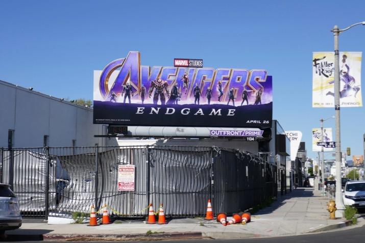 Avengers Endgame billboard