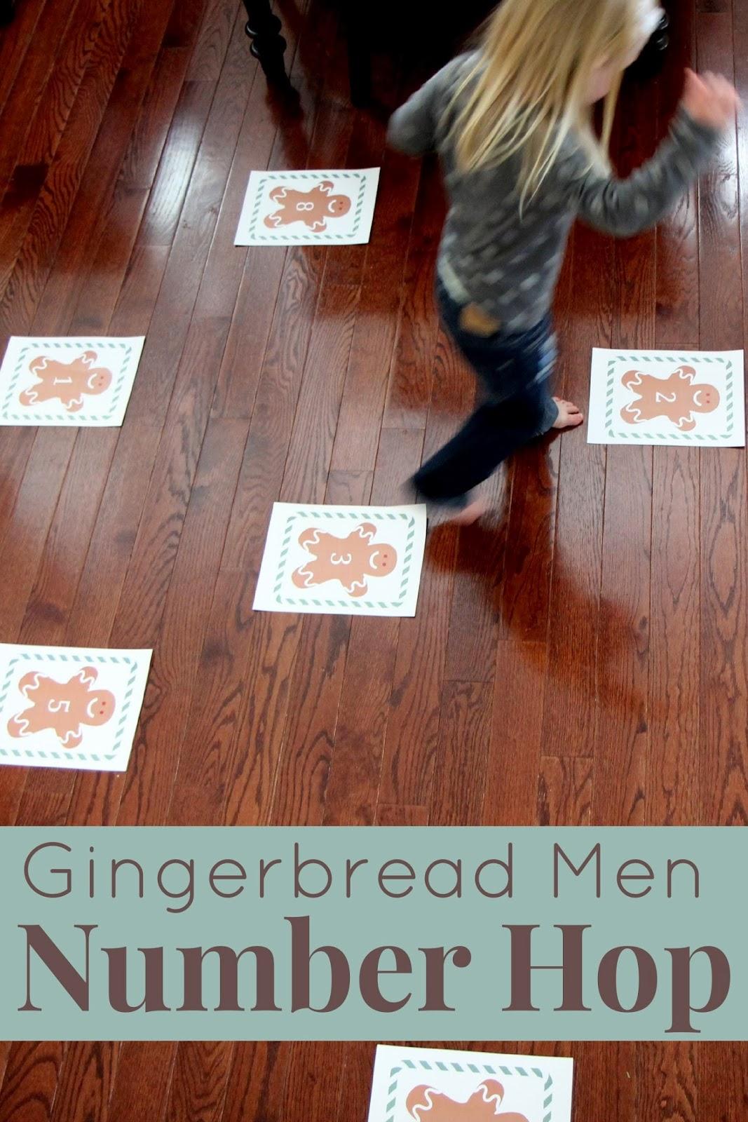 Toddler Approved Gingerbread Men Number Hop