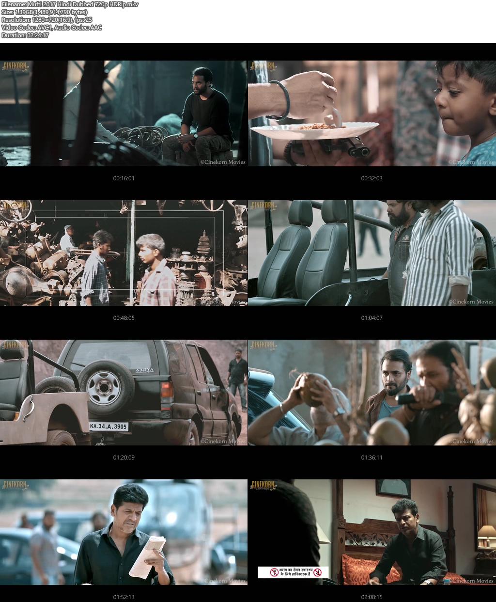 Mufti 2017 Hindi Dubbed 720p HDRip | 480p 400MB| 200MB HEVC Screenshot