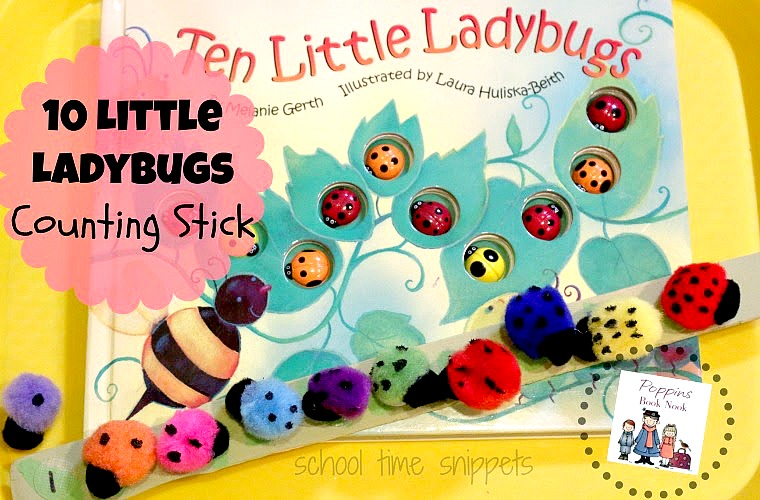 10 Little Ladybugs Preschool Math Activity