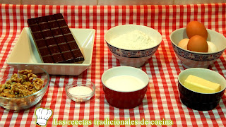 Receta fácil de brownie de chocolate