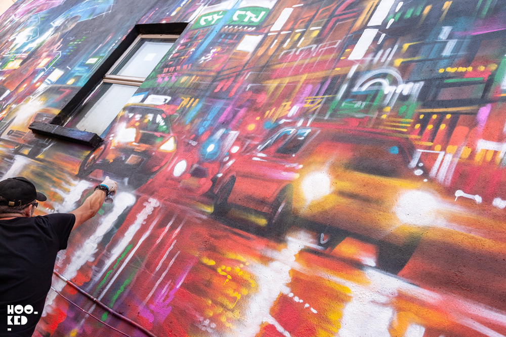 Street Art Mural in Waterford, Ireland painted by street artist Dan Kitchener aka DANK