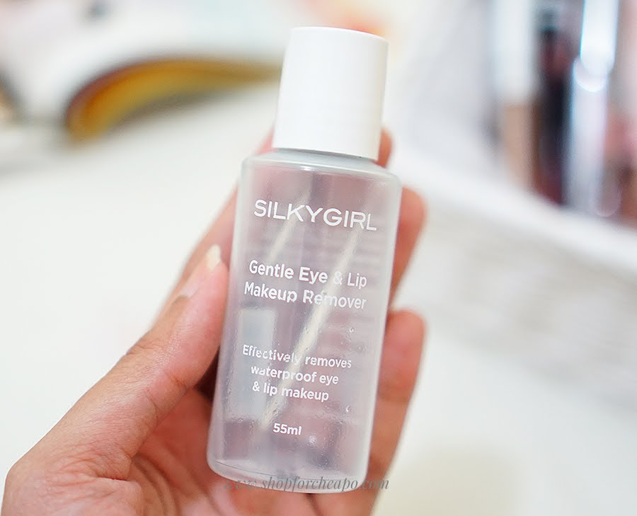 silkygirl gentle lip and eye makeup remover