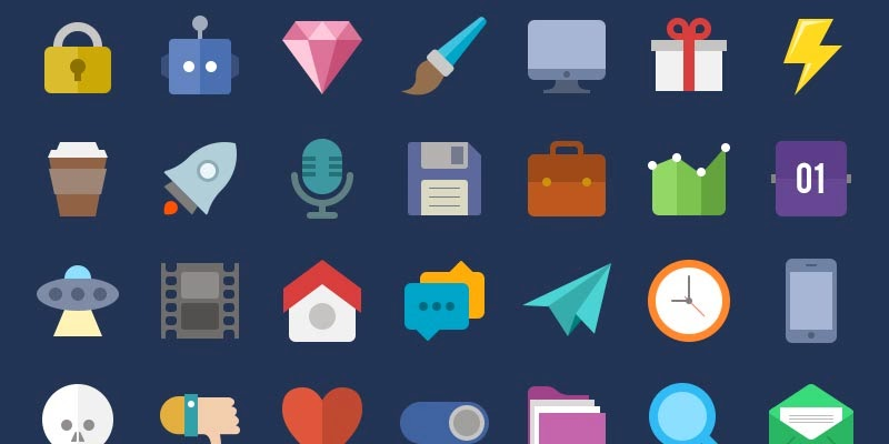 Free Flat Icon Pack