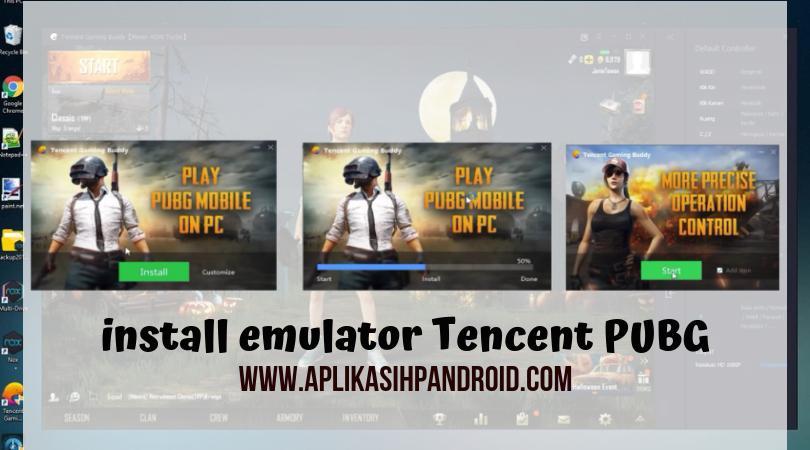 Cara bermain PUBG di PC dengan menggunakan software Tencent Gaming 2
