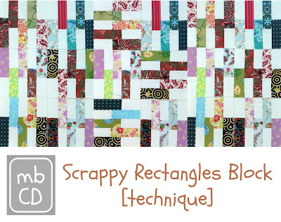 Scrappy Rectangle Block [Technique] by www.madebyChrissieD.com