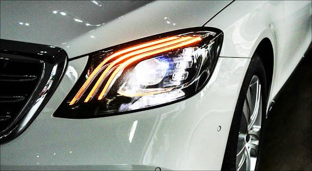 Hệ thống đèn trước Mercedes S450 L 2018