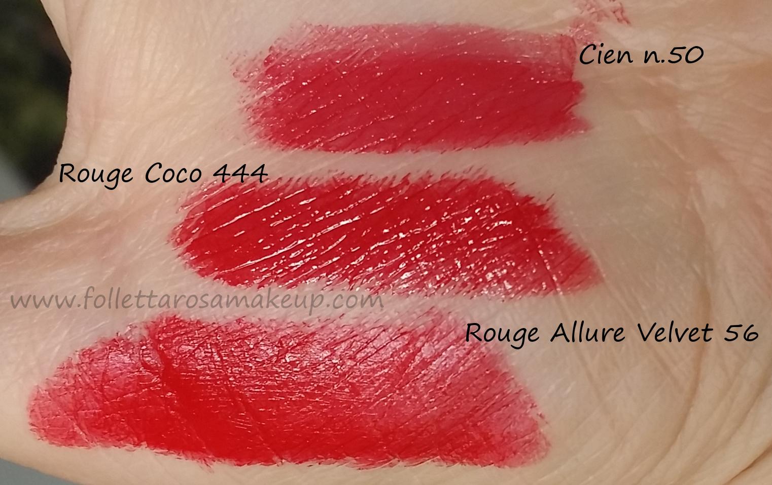 swatch-comparazioni-rossetti-rossi-chanel