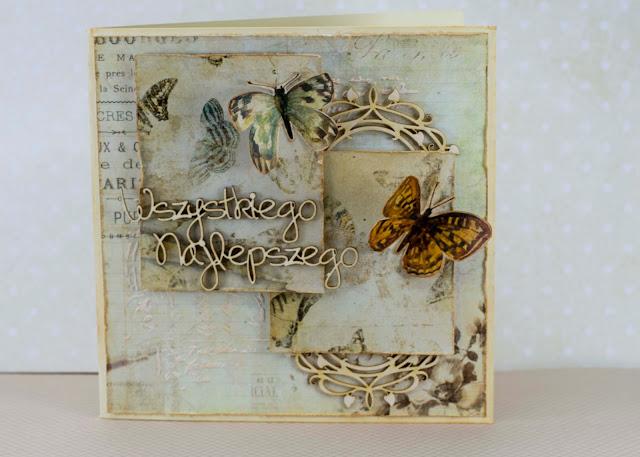 Kartka z motylami