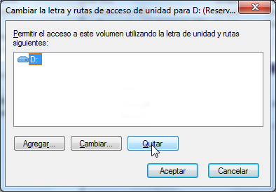Reservado para el sistema - Windows 7