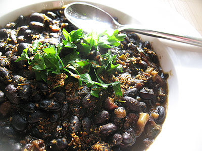 Curried Black Beans with Tomatoes and Spices
