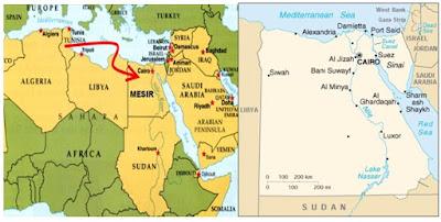 Peta negara Mesir