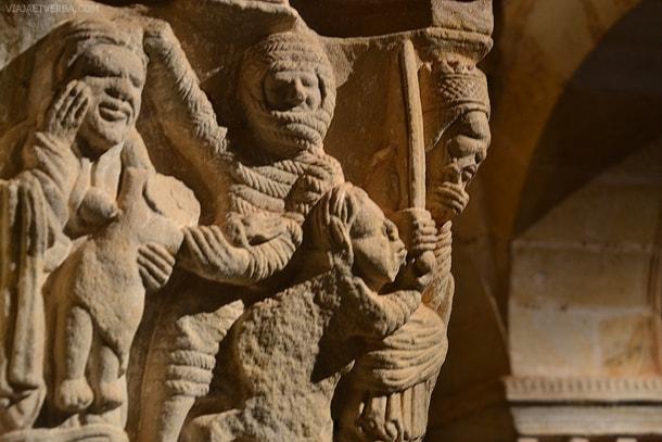 Detalles del Monasterio de San Juan de Duero en Soria, España. Por Viaja et verba
