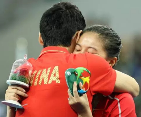 chinese diver proposed girlfriend olympics