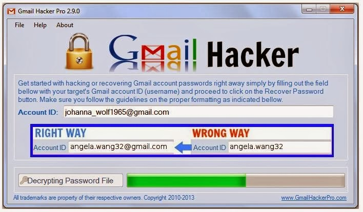 gmail hacker activation code free