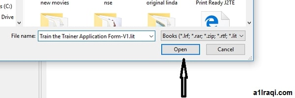 طريقة فتح ملفات LIT على ويندوز 10