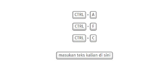 Menambahkan Efek Tombol Keyboard Untuk Teks di Blogger dengan CSS