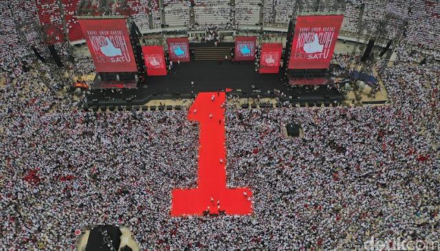 Ustadz Yusuf Mansur Tutup Pidato Jokowi-Kiai Maruf dengan Shalawat Badar