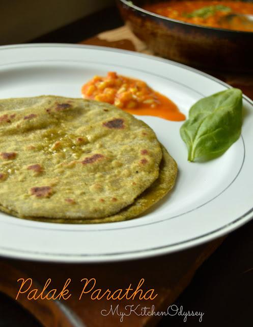 palak paratha recipe1