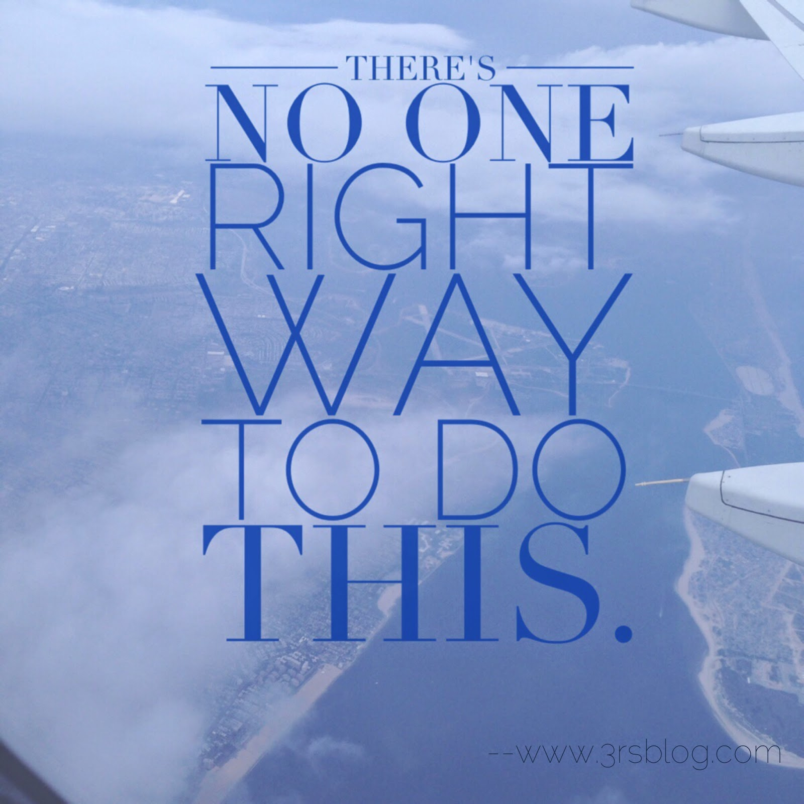 The Blogger's Credo of The 3 Rs Blog: There's no one right way to do this