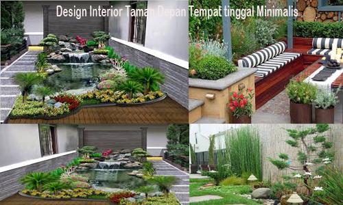 Design Interior Taman Depan Tempat tinggal Minimalis