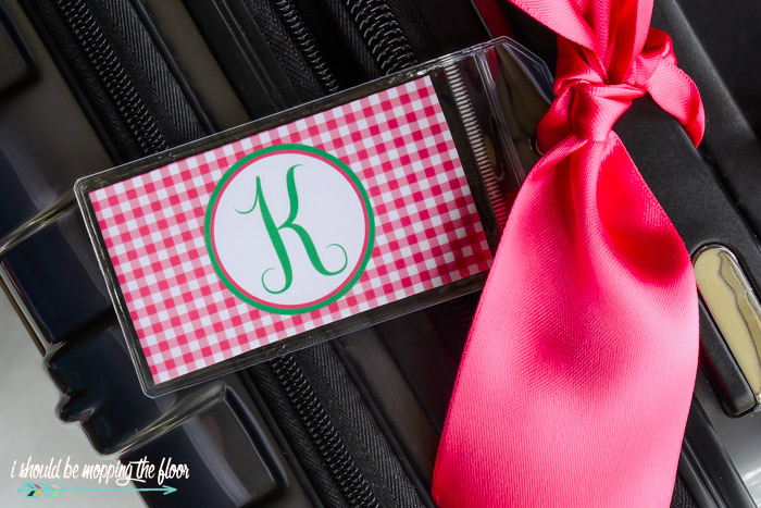 Monogram Printable Tags for Luggage