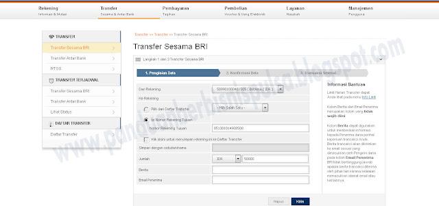 Cara Mudah Transfer Uang BRI Lewat Internet Banking