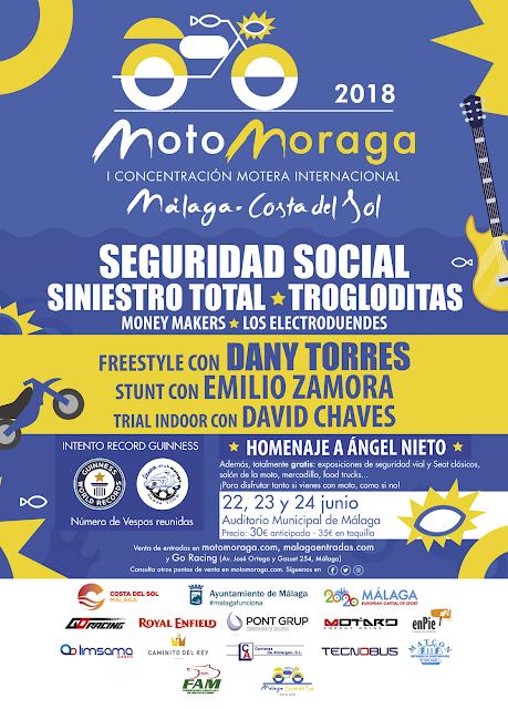 Concentración Moto Moraga en Málaga