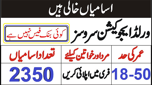 World Educational Services Jobs 2020 Apply Online
