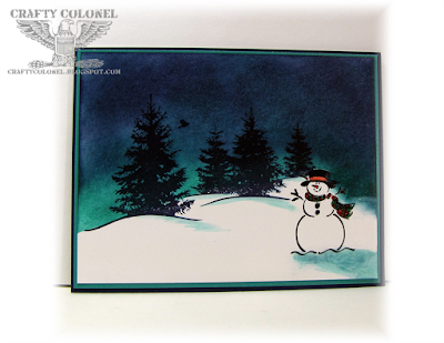 Crafty Colonel Donna Nuce for CASE-ing Christmas, Stampin Up Best of Snow, Scenic Season, Winter Card
